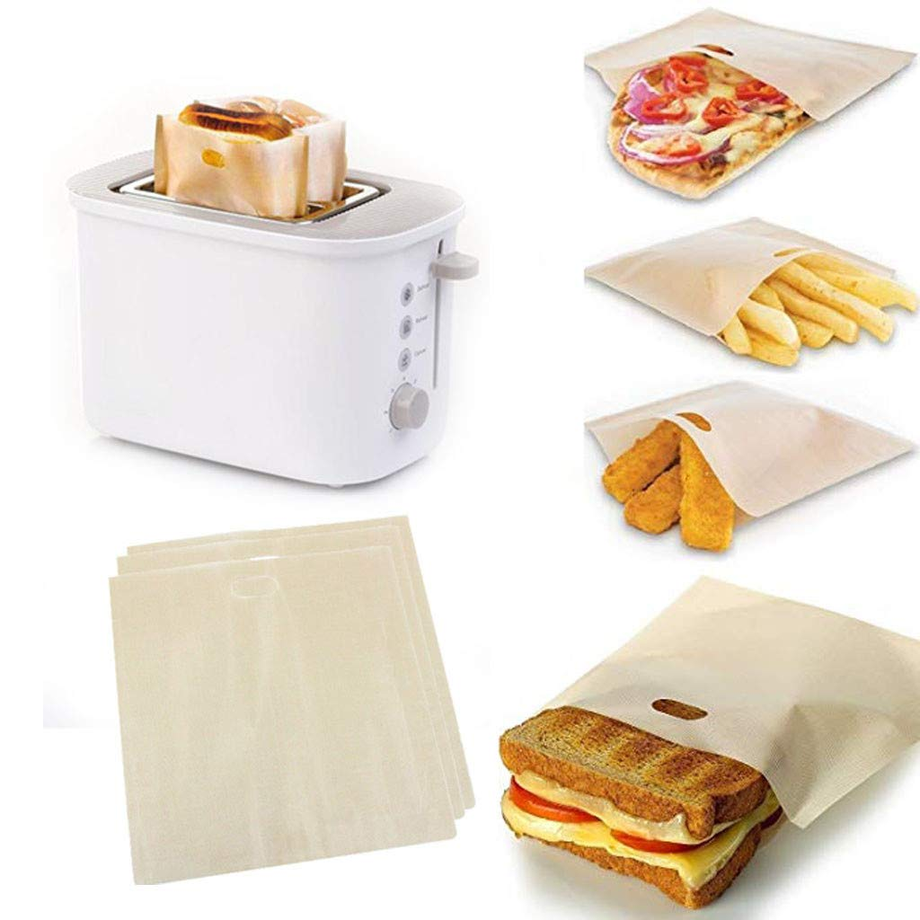 Toaster Storage,Toaster Bags Reusable for Grilled Cheese Sandwich Non-Stick Heat Resistant
