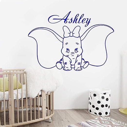 Nombre de niña personalizado Dumbo apliques de pared lindo arco de ...