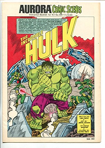 Aurora Comic Scenes #184 1974-Hulk Model Kit Instructions- Herbe Trimpe art ()