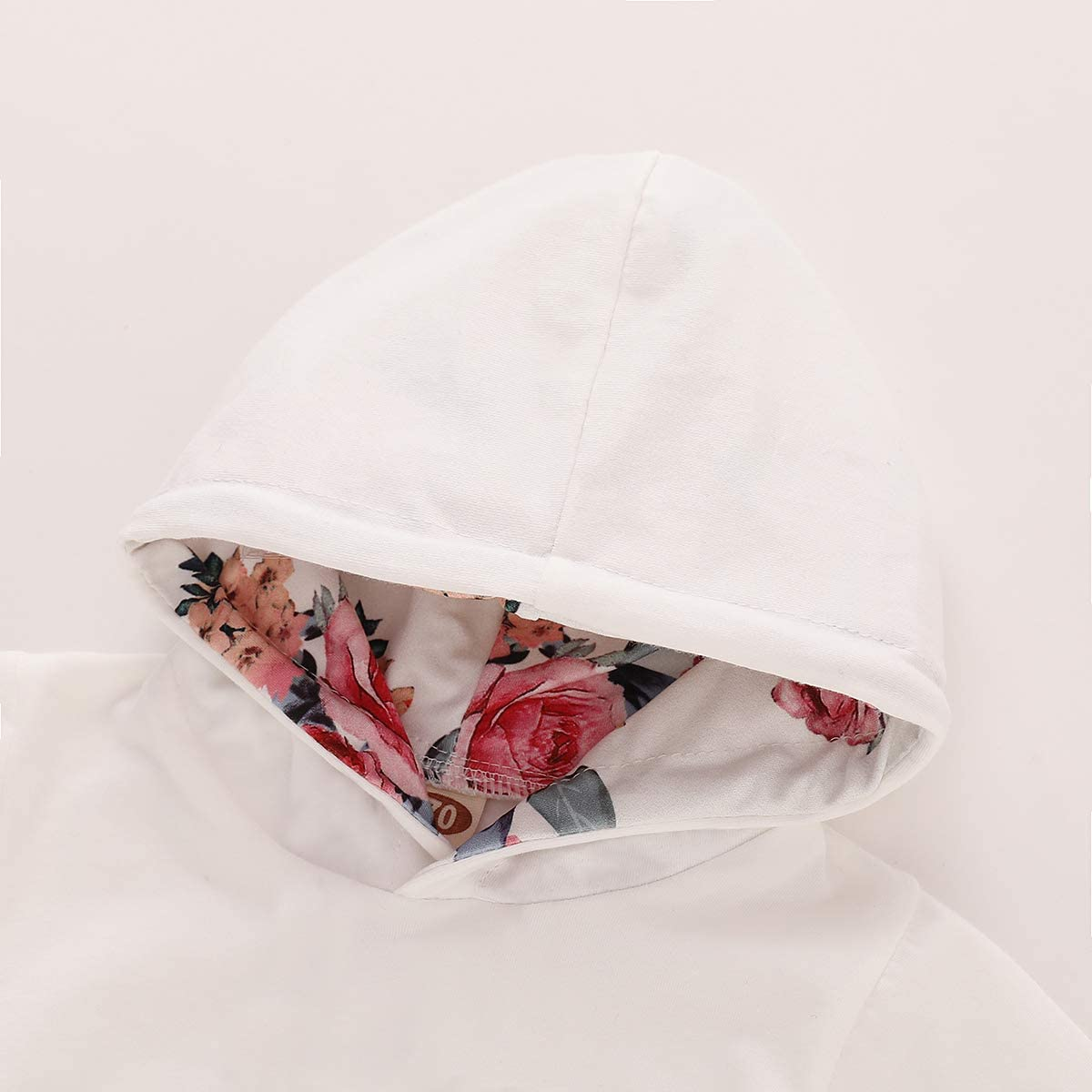 PICK YOUR LOOK Newborn Baby Girl Clothes Long Sleeve Floral Printed Hoodie Outfit Sweatshirt Headband Pocket Clothes Sets Trouser Outfits