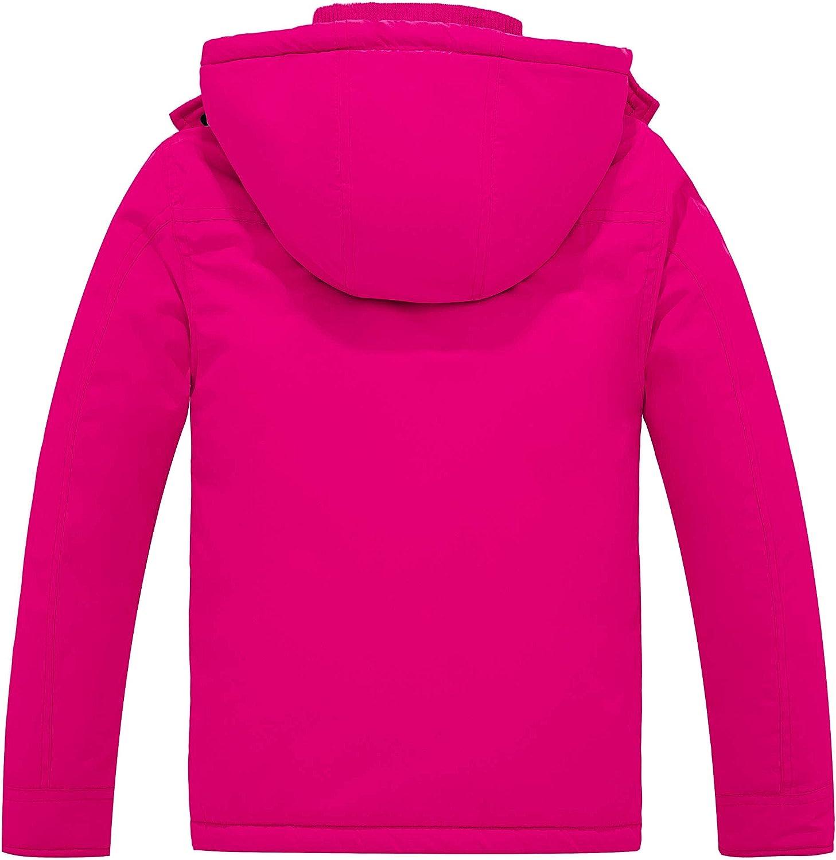 Wantdo Girls Thicken Puffer Coat Windproof Hooded Warm Winter Jacket