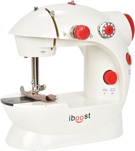 iBoost máquina de coser portátil, doble hilo, cortador y pedal de pie, 2 velocidades: Amazon.es: Hogar