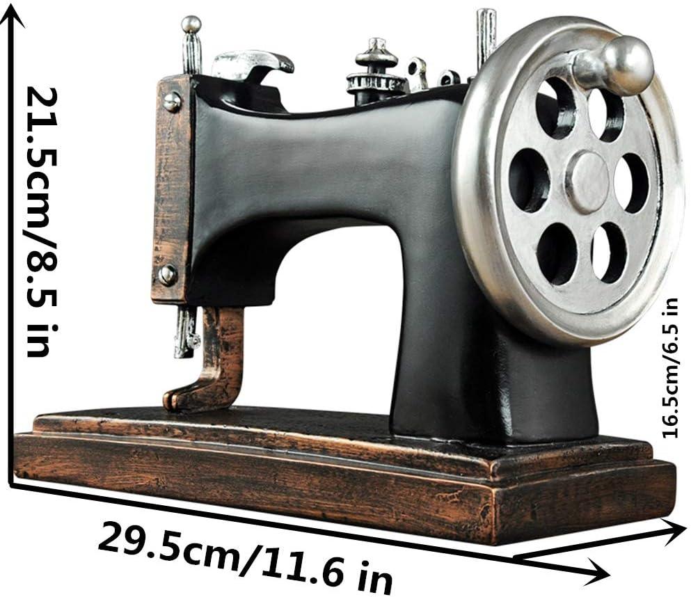 Shopps La Escultura de máquina de Coser Antigua, exquisitamente elaborada, Hecha a Mano, con Resina, Puede Utilizar para Accesorios y Decoraciones.: Amazon.es: Hogar