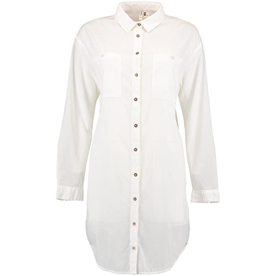 1474c2d48 O Neill Womens Ladies Oversized Button Up Shirt (L) (Powder White ...