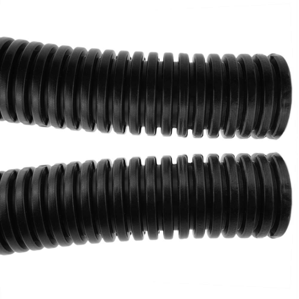 BeMatik Gaine annel/ée Fendue Buse de Protection des c/âbles Tube Flexible ondul/é pour int/érieur M-25 16mm 25m