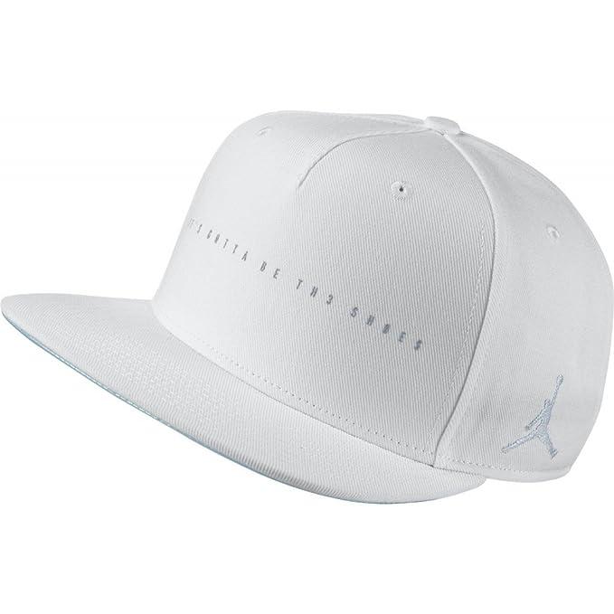 762fbcbecf23 Amazon.com   NIKE Mens Air Jordan Retro 4 Snapback Hat White Wolf ...