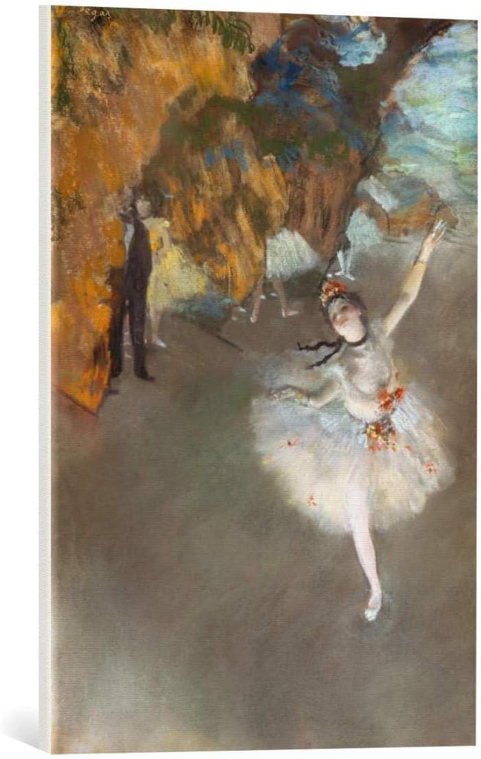 Kunst für Alle Cuadro en Lienzo: Edgar Degas Der Star - Impresión artística, Lienzo en Bastidor, 45x65 cm