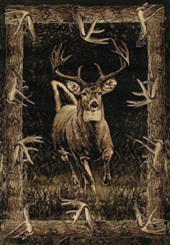 Segma Designer Contours Running Deer Area Rug, Toffee, 5'3″ x 7'6″ For Sale