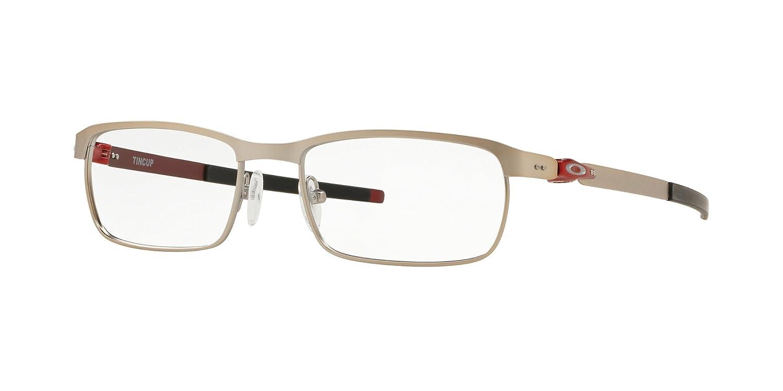 48c9768dc1 Oakley TINCUP OX3184-318407 Eyeglasses SATIN CHROME 52mm at Amazon Men s  Clothing store
