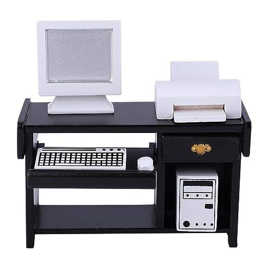 Zouminy Muebles de Oficina en Miniatura Juego de Juguete Impresora ...