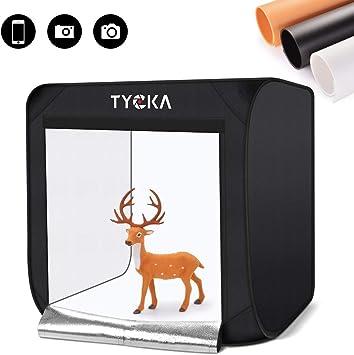 """16/"""" tienda de la iluminación de fotografía portátil 40cm Photo Studio Light Box 4 telones de fondo"""