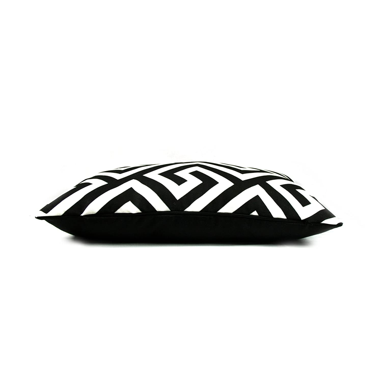 myBUBO Black and White Morocco Dekokissen Kissenhülle//Kissenbezug Zierkissen