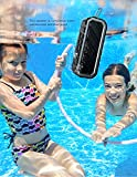 Sharper Image Waterproof Floating Bluetooth Speaker, Rugged Design for Outdoors, Built-In Microphone (Black)