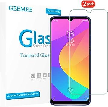 GEEMEE Protector de Pantalla para Xiaomi Mi A3, Cristal Templado Película Vidrio Templado 9H Alta Definicion Glass Screen Protector Film Clear -2 Pack: Amazon.es: Electrónica