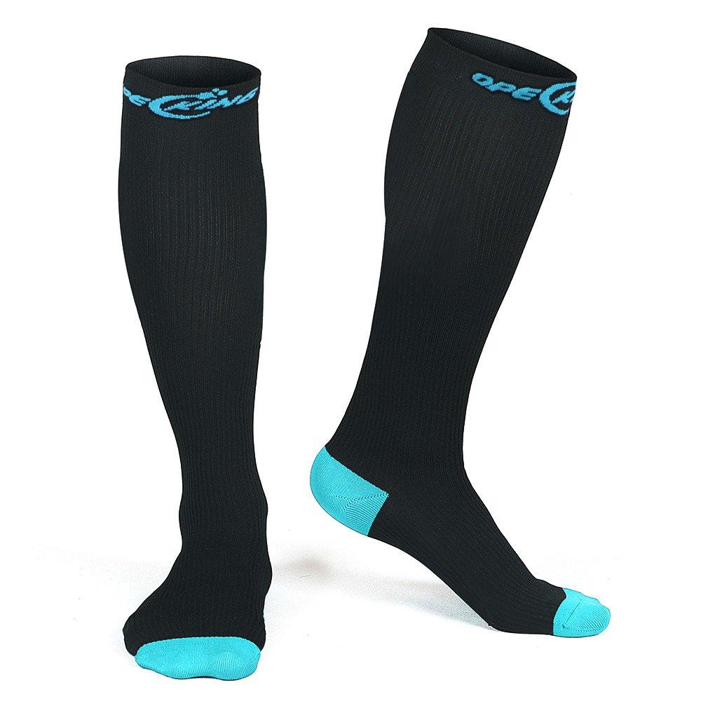 Compression Socks for Men and Women,Graduated Stockings for Sports,Running,Nurses Shin Splints,Diabetic,Travel,Flight,Pregnancy,Maternity,Varicose Veins,Edema - 1 Pair