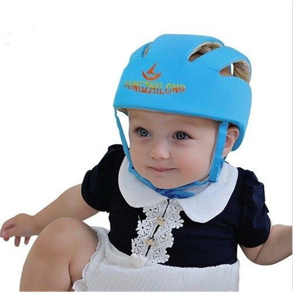 Infantil de casco de seguridad para bebé Niños gorro de cabeza protección para caminar gatear bebé niños bebé ajustable casco de seguridad casco protector ...