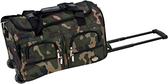 Rockland 22 Inch Rolling Duffle Bag CAMOFLAGE