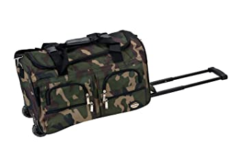 59e31b3a58 Image Unavailable. Image not available for. Color  Rockland Luggage Rolling  22 Inch Duffle Bag ...