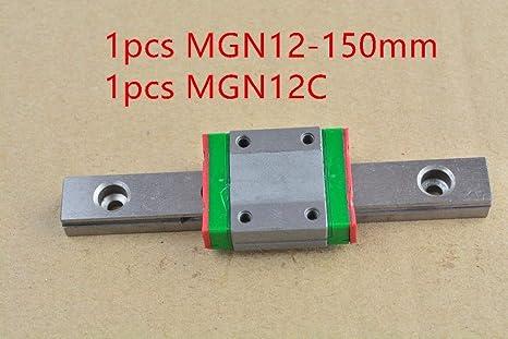 Impresora 3D - MR12 Guía lineal de 12 mm MGN12 150 mm con MGN12C o ...