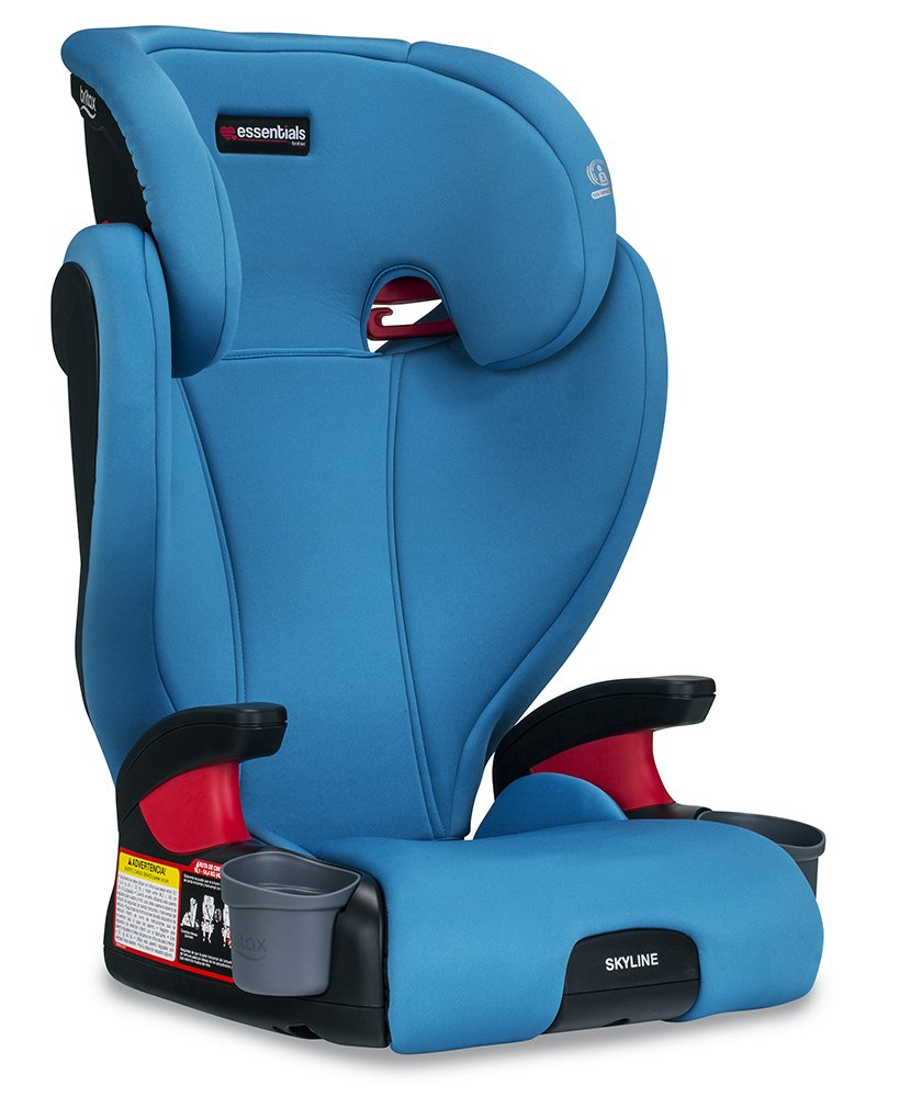 Britax Skyline Belt-Positioning Booster Seat – 2 Layer Impact Protection – 40 to 120 pounds, Teal