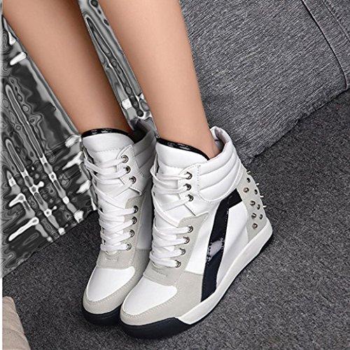 Travel Shoes MRELT White Autumn Women Heel Rivet Promotion Casual Shoes Big Lace up Hidden 6zOWPBnx