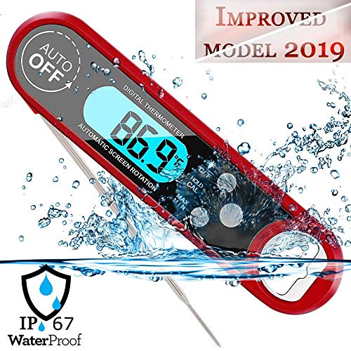 FoodOmeter Instant-Read Meat-Thermometer Kitchen for Grill-Cooking Food BBQ Waterproof Body with 4.5 Folding Probe