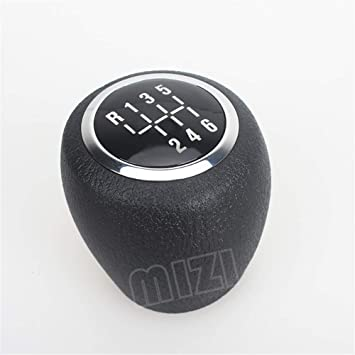 Qiilu Car 6 Speed Manual Gear Shift Lever Knob Stick Head Fit for Chevrolet Cruze 2008 2009 2010 2011 2012 Shifter Knob