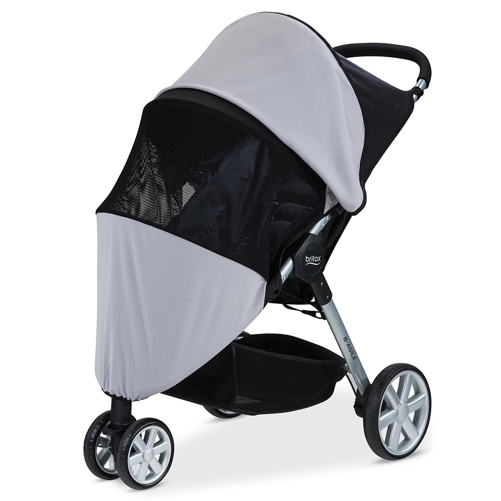 Britax Single B-Agile, B-Free, Pathway Strollers UPF 50+ Sun and Bug Cover S924100