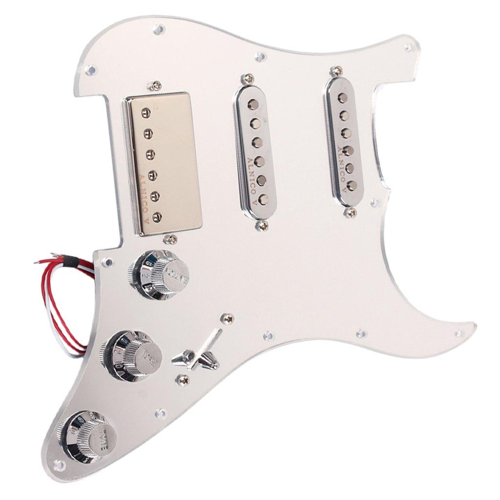 Jili Online SSH Loaded Prewired Humbucker Pickguard Pickups Set for Fender Strat ST