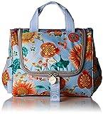 Oilily Groovy Sunflower Washbag Mhz 1, Women's Bag Organiser, Blue (Light Blue), 12x21x26 cm (B x H T)