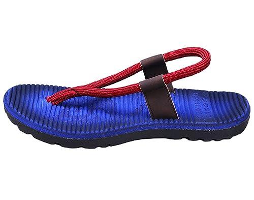 reputable site 3c0d1 db1ee Yiiquan Uomo Corda Rotonda Infradito Sandali Sportivi Scarpe da Spiaggia