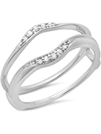 010 carat 10k gold round diamond - Wedding Ring Enhancers