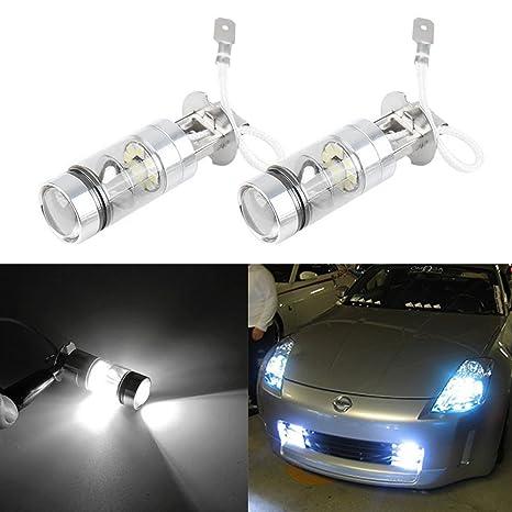 Luces antiniebla de Mesllin H3 6000K 100W LED que conducen la lámpara de las bombillas de