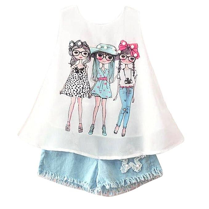 Amazon.com: happyma bebés, niñas, trajes de verano sin ...