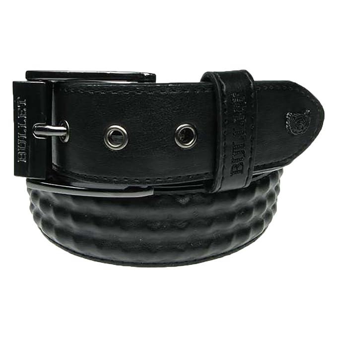 Bullet 69 negro cubierto 3 fila Pyramid Stud Studded interior cinturón *