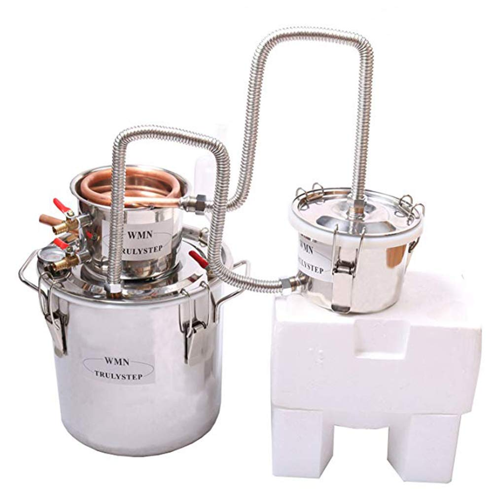 New 3 Pots DIY Home Distiller Alcohol Moonshine Ethanol Still Spirits Boiler Wine Water Essential Oils Making Brewing Kit (Copper, 20 Litres / 5 Gallon) by WMN_TRULYSTEP