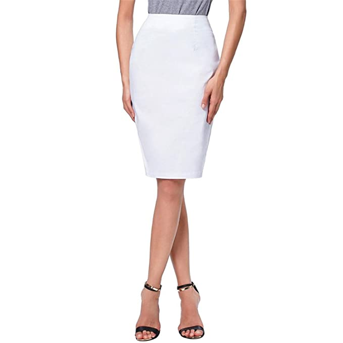 b2210f15b0 Image Unavailable. Image not available for. Color: Rick Rogers Pencil  Skirts Women New White Black Sexy Slim Wear To ...