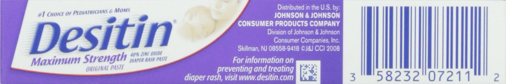 Desitin Diaper Rash Maximum Strength Original Paste, Travel Size, 1 Oz. Tube (Pack of 6) by Desitin (Image #5)