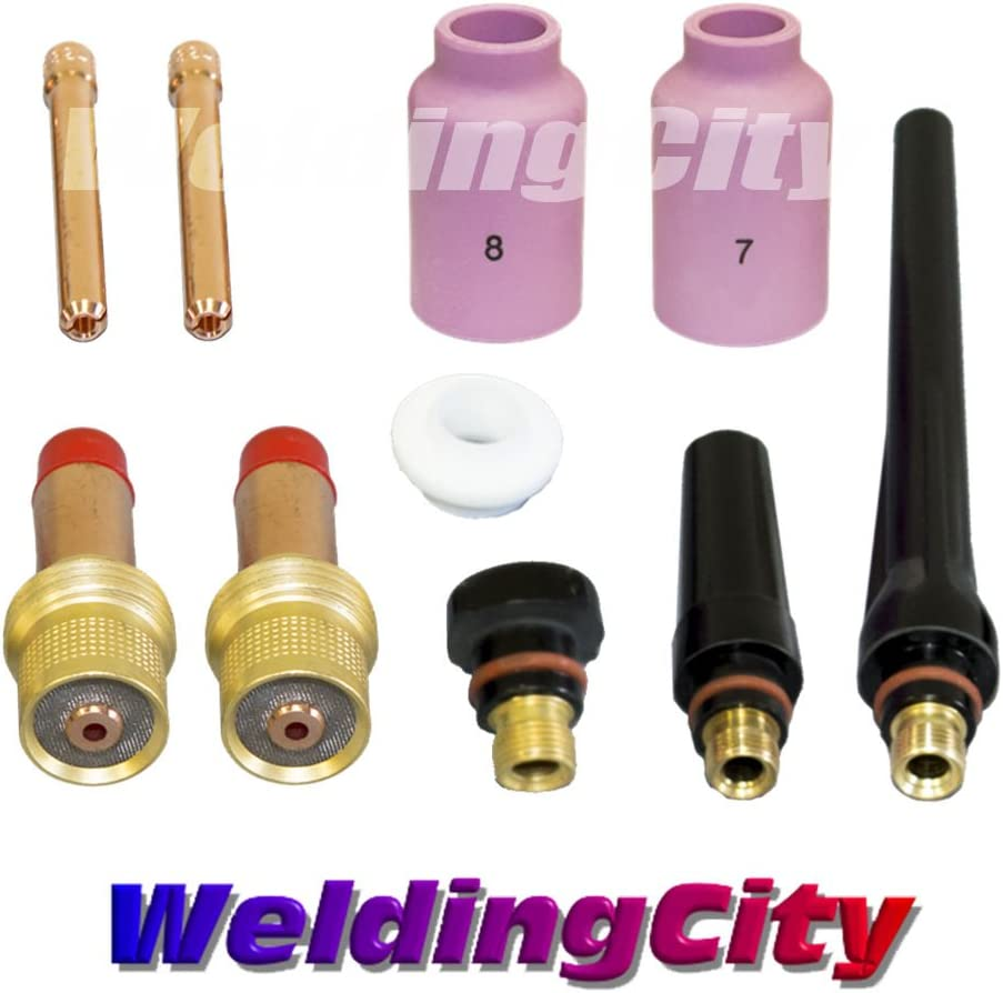 Collet Welding Torch Replacement 17pcs Nozzles TIG Gas Lens Consumables