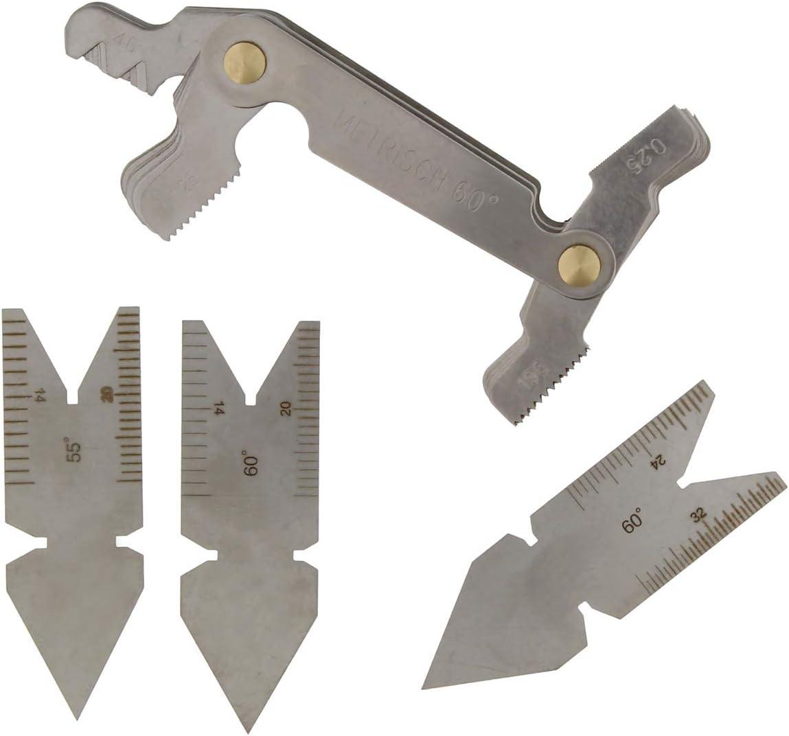 #N//a Set di Utensili per Calibro Passo Filettatura Calibro Centrale 55 E 60 /° Pollici E Metrico E Americano