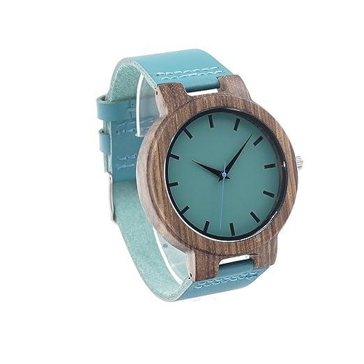 Personalizado grabado mano bambú reloj reloj de madera de bambú Natural regalo para Groomsmen: Amazon.es: Relojes