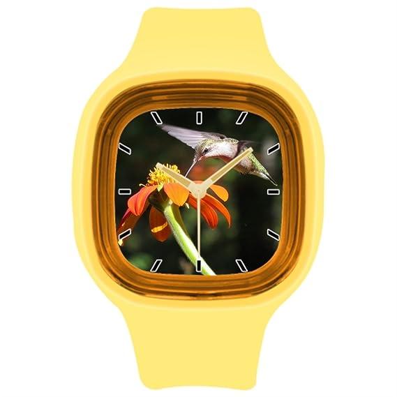 kosmore deportes animales reloj deportivo muñeca reloj tiendas amarillo: Amazon.es: Relojes