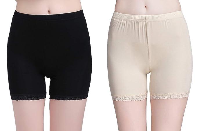 93b0bf4231c8d Vinconie Shorts Leggings Womens Under Shorts Knee Leggins Smooth Slip Shorts