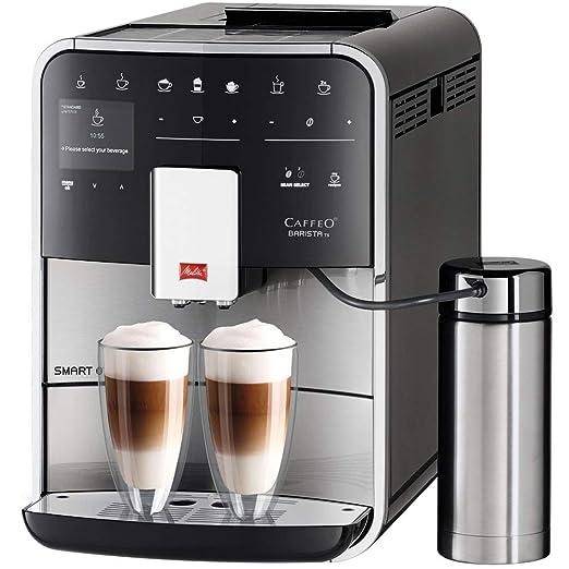 Melitta Barista TS Smart 860-100, cafetera automatica con molinillo incorporado para expreso, depósito de leche, 1450 vatios, 1.8 litros, W, Negro, ...