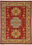 Cheap Unique Loom Sahand Collection Traditional Geometric Classic Red Area Rug (7′ x 10′)