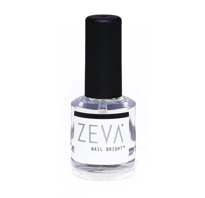 Amazon Com Zeva Nail Bright One Step Salon Grade French Manicure Fingernail Toenail Polisher Whitener Quick Dry White Pink Polish Brightener For Nails Beauty
