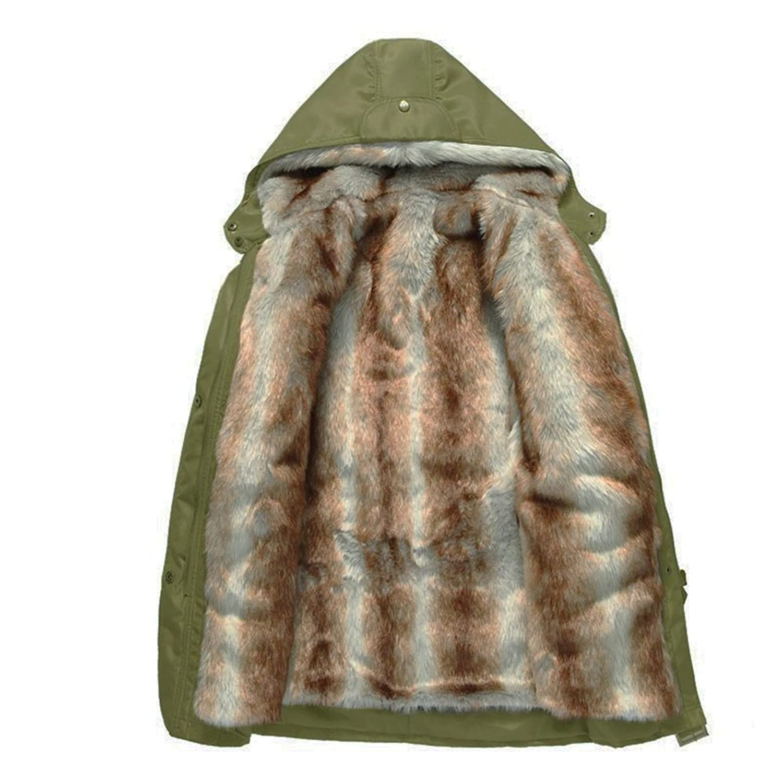 CRAVOG Wintermantel Damen Kapuzenjacke Winterjacke mit Kapuze Gefütterte Jacke Verdickung Freizeit Lange Parka Outwear Jacke Mantel Oberbekleidung