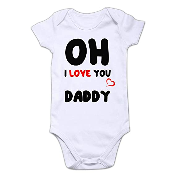 aa0de8d7e Funcart Oh! I Love You Daddy Romper with Size of The Romper is 16x16 Inches
