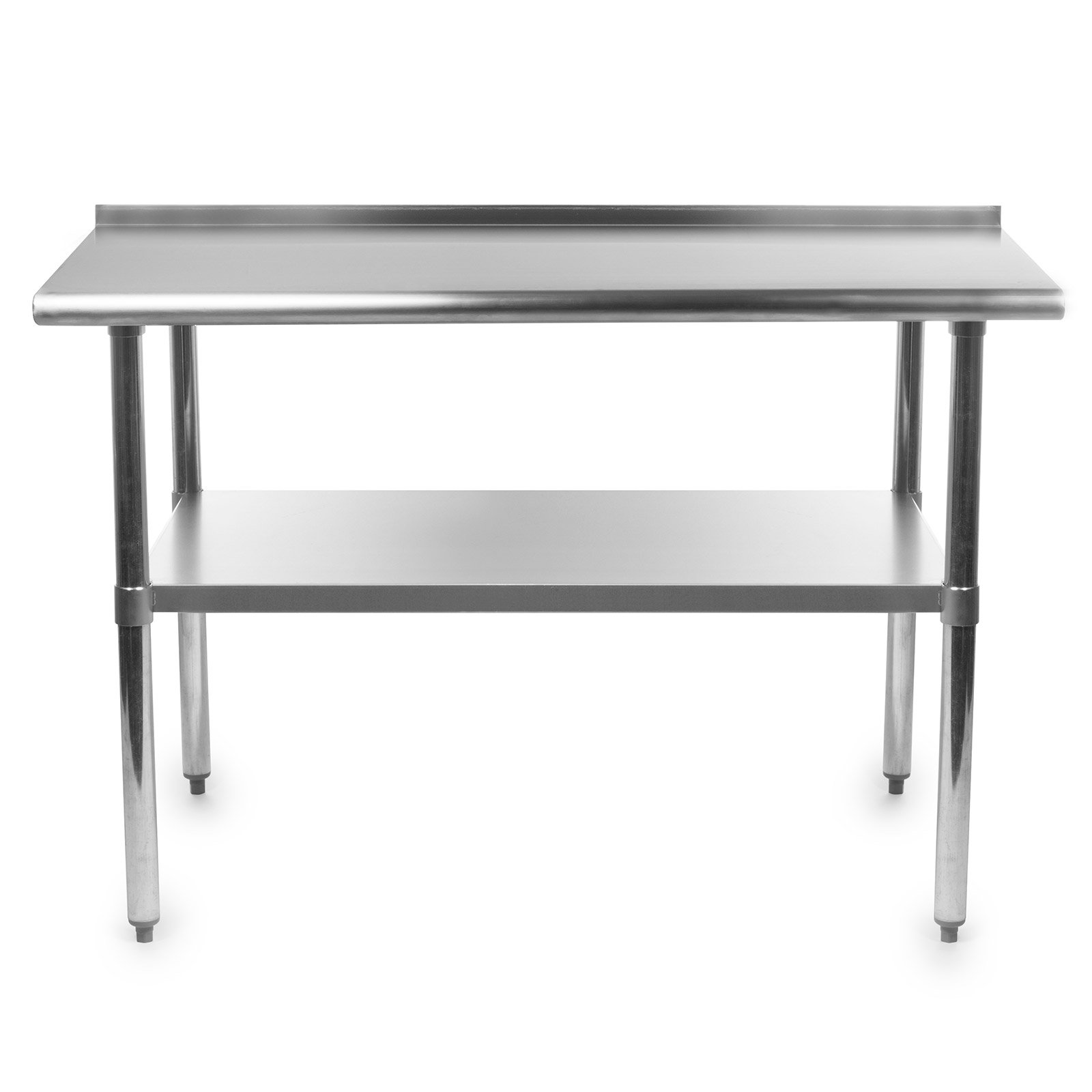Gridmann Stainless Steel Commercial Kitchen Prep & Work Table with Backsplash, 48 x 24 Inches by Gridmann (Image #2)