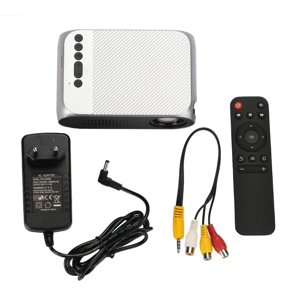 Proyector LCD inalámbrico HD, (Gris plateado: Amazon.es: Electrónica